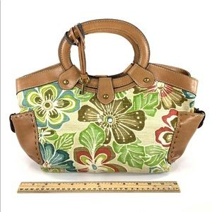 Fossil bag floral print canvas purse design spring